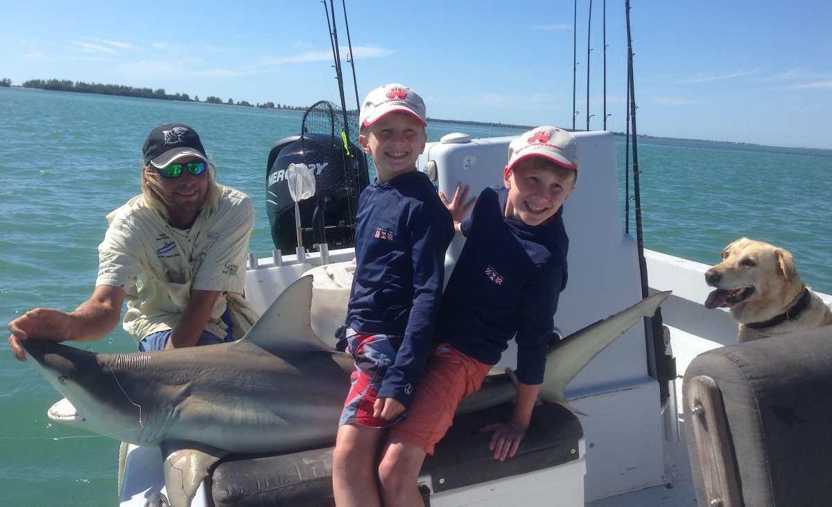 Captiva Fishing Monday, 7-27-15: Blacktip Sharks ~ #Sanibel #Captiva