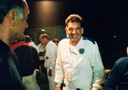 Caption orig.: 50.000-km-Rekordfahrt in Nardo, 13. - 21.08.1983. Erich Waxenberger