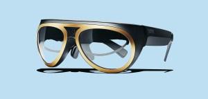Gli occhiali della Mini: ricordano quelli di Nuvolari, con le funzioni di Google Glass