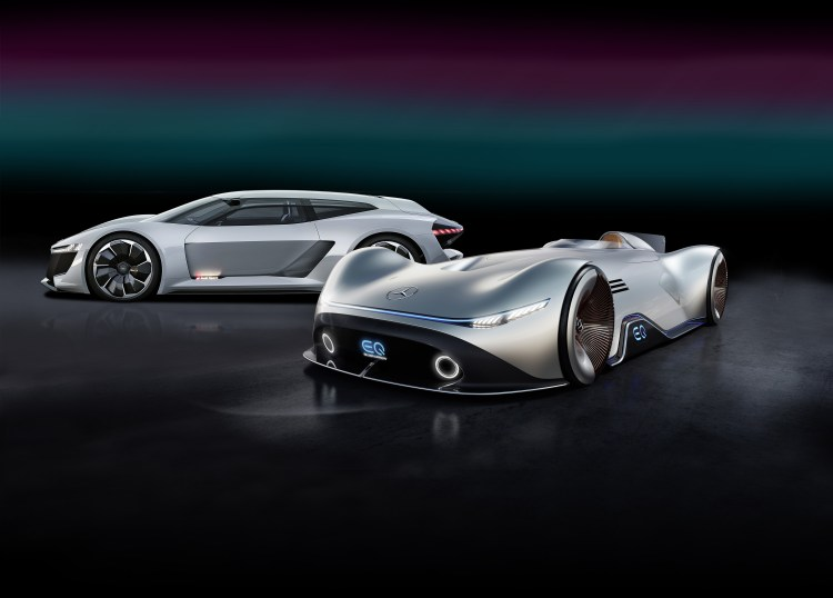 Im kalifornischen Pebble Beach präsentiert Mercedes-Benz das Showcar EQ Silver Arrow bei der Monterey Car Week vom 18. bis 26. August 2018. // At Pebble Beach in California, Mercedes-Benz is unveiling the EQ Silver Arrow show car at Monterey Car Week, which is being held from 18 to 26 August 2018.