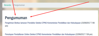 Seleksi Administrasi CPNS