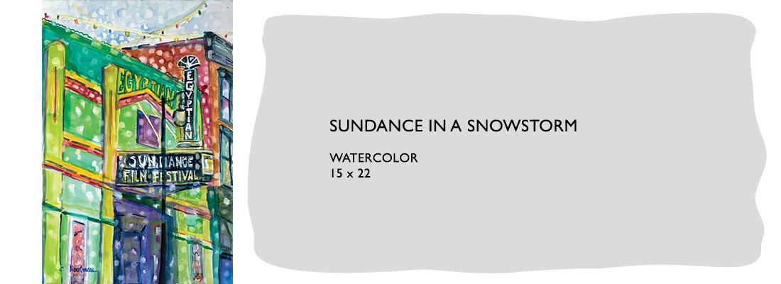 Sundance in a Snow Storm