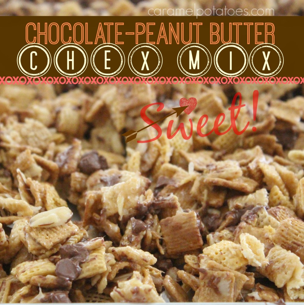 Chocolate-Peanut Butter Chex Mix - insanely good!