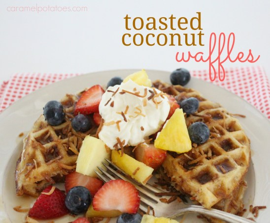 Caramel Potatoes » Toasted Coconut Waffles
