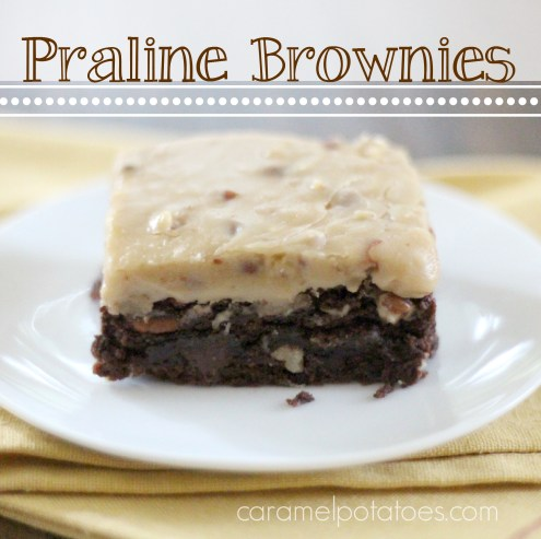Praline Brownies - So easy to make and so, so good!