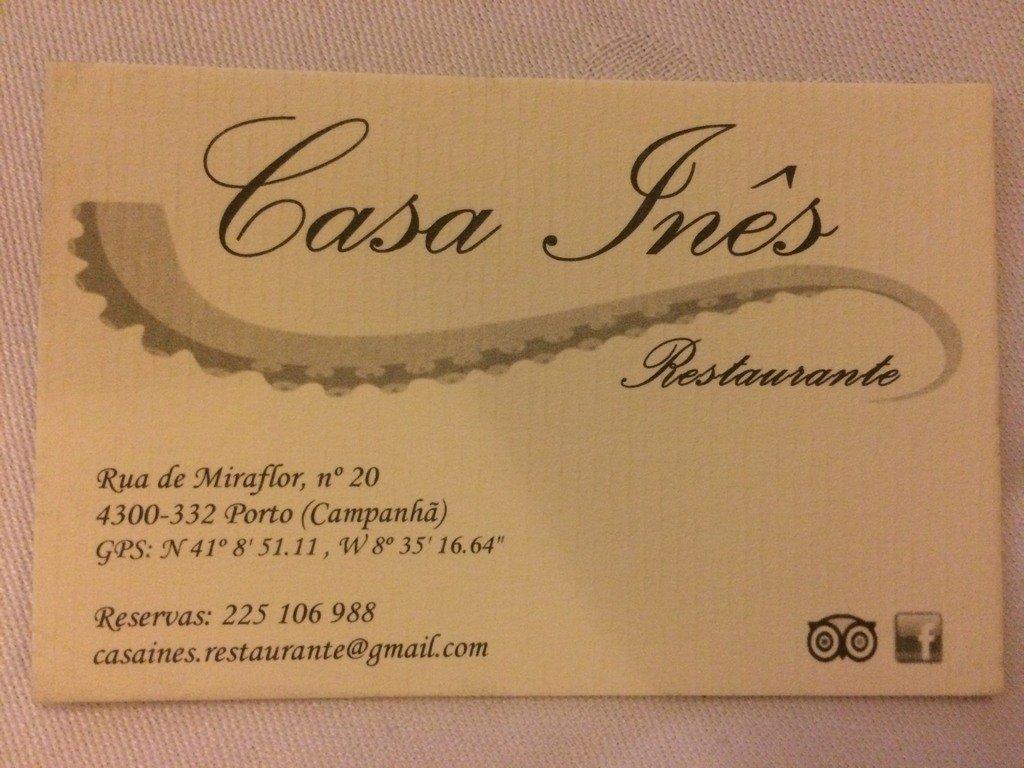 Restaurante Casa Inês | Porto