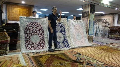 Carpet gallery in Shiraz