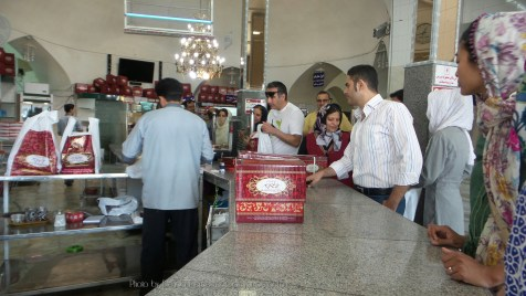 Popular sweet shop in Yazd