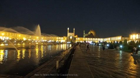 Nagshe-Jahan Square at night