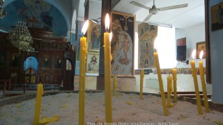 Inside the church of St. George in Madaba
