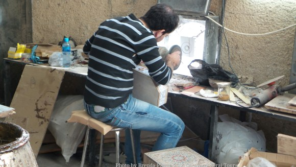 Woodworker in Madaba