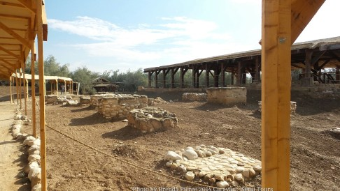 Footings of the ancient church at Bethany