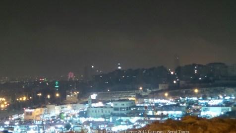 Outskirts of Amman at night