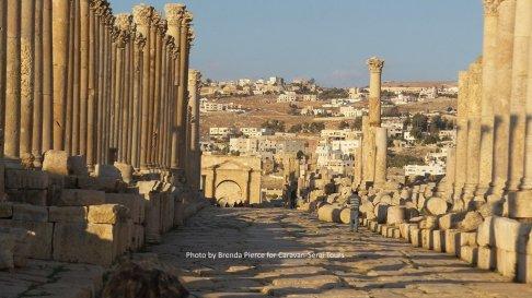 The main street through the city of Jerash
