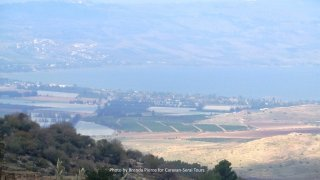 View of the Sea of Galilee from Umm Qais