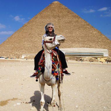 Camel ride at the Pyramids of Giza