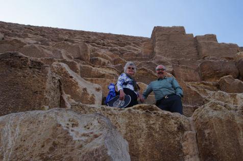 On the pyramid at Giza