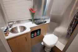 Airstream Bambi washroom
