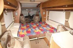 Autocruise Gleneagle double bed