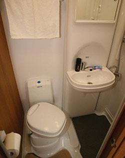 The bathroom in the Auto-Sleeper Berkshire
