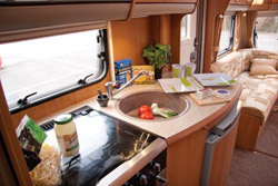 Swift Challenger 580 kitchen