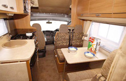 Swift Sundance 630L interior