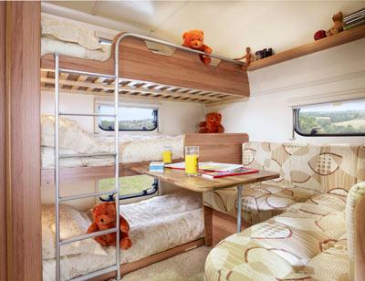 Bailey Orion 450-5 rear bedroom
