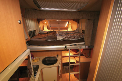 Chausson Flash 22 bunk over cab