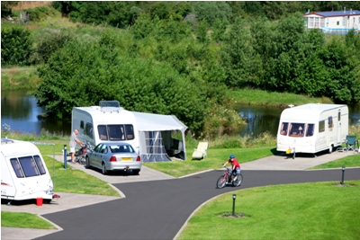 Tourers by the lake