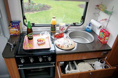 Adria Sport 660 kitchen
