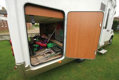 Motorhome Equipment loaded up