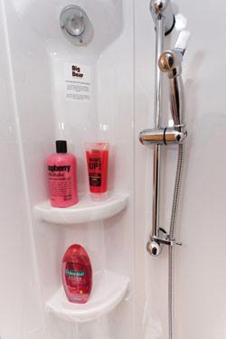 Caravan shower