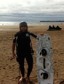 Ryan after kitesurfing