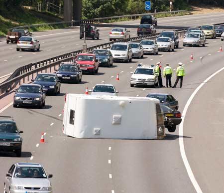 motorway caravan accident