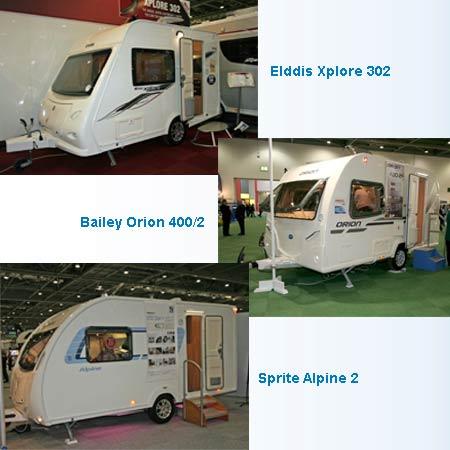 three caravan models collage