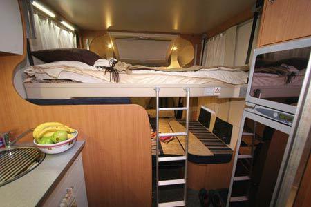 bunk bed arrangement