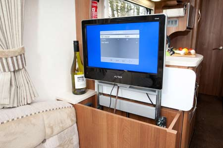 One of the two TVs