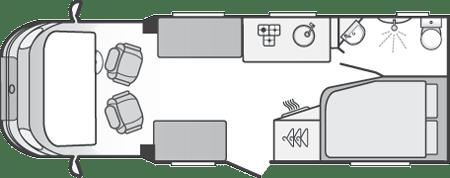 Swift Escape 662 Motorhome Floorplan