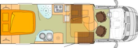 Bürstner Ixeo Plus it724 motorhome floor plan