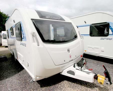 Swift Sprite Alpine 4 berth caravan exterior