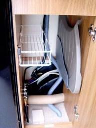 Swift Sprite Alpine 4 berth caravan storage for draining bord