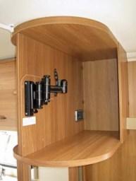 Swift Sprite Alpine 4 berth caravan swing mounting for TV