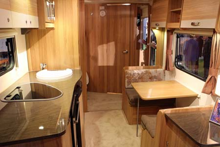 Bailey Pursuit Caravans Dinette kitchen
