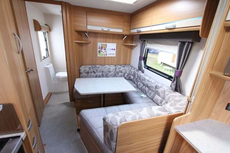 Lunar Quasar 564 Caravan wrap around dining & bed
