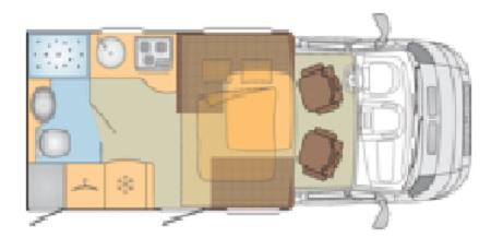 Burstner Ixeo Time IT590 floor plan