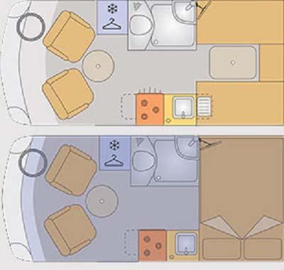 Vantage Med Motorhome Floor plan