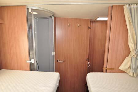 Knaus Sun TI 700M beds and shower