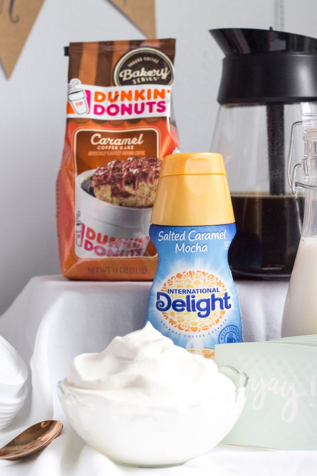 dunkin donuts bakeshop coffee and international delight salted caramel creamer