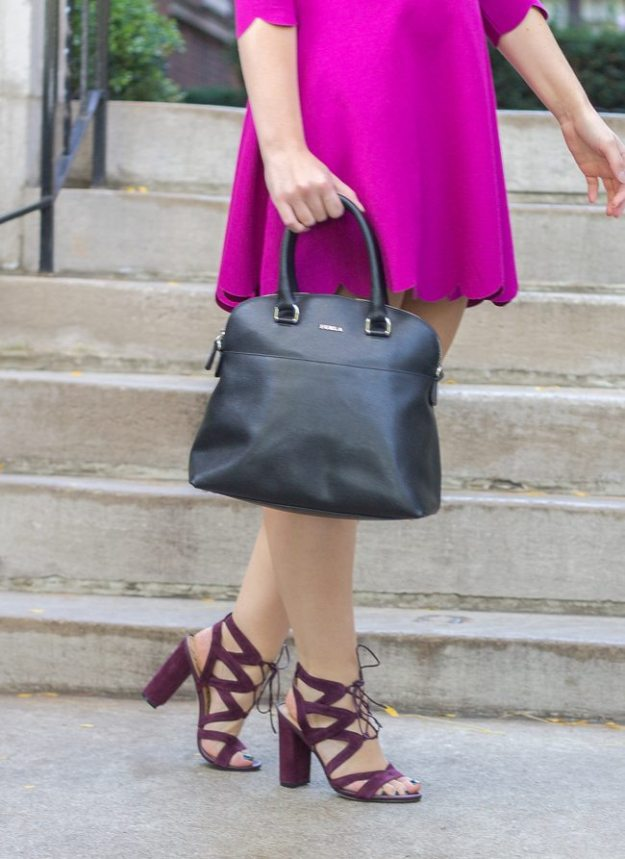 Sam Edelman Purple Lace Up Heels