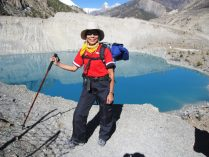 Trekker at Annapurna trail